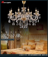 10 Lights Luxury crystal Chandelier light crystal pendant chandlier Glass modern for living room bedroom Lighting