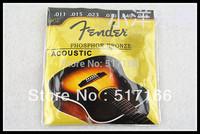 Freeshipping 10PCS/LOT Phosphor Bronze Acoustic Guitar String 010-048 F 60L
