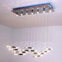 Rectangle crystal restaurant lamp gene lamp brief modern crystal column chandelier