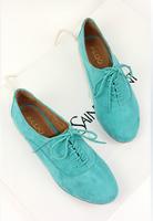 new Comfortable 2013 all-match flat round toe flat lacing single shoes women's shoeswomen flats