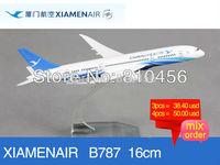 Free Shipping Xiamen airline B787 16cm metal airplane models aircraftmodel airbus prototype plane model kits