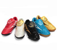 Soccer Shoes Indoor Football boots Athletic Training/Match Professional Flats leather Free Shipping 1046-1