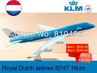 Free Shipping KLM airline B747 16cm metal airplane models aircraftmodel airbus prototype plane model kits