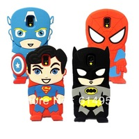 50Pcs For Samsung Galaxy Note 3 III N9000 N9005 Case , 3D Avengers Alliance Captain America Batman Super Heros soft Cover