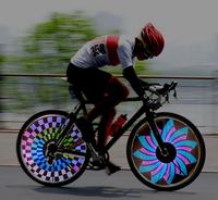 Free shipping SCM mcu kit electronic pov digital 32 LED bicycle Wheels bike hot wheel light bike decorative lamp Valve lamp