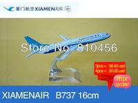 Free Shipping Xiamen airline B737 16cm metal airplane models aircraftmodel airbus prototype plane model kits