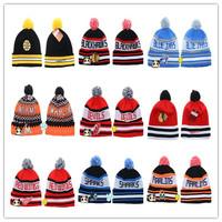 Nhl hockey nhl knitted hat cap boy hiphop hat pompon  hip-hop hat  for  men  women  free  shipping