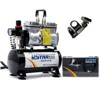 U-STAR U-602G Mini Air Compressor + U-STAR U-3 Airbrush