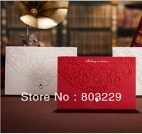 2014 , free shipping,50pcs/lot, Korean, high-grade, hollow out wedding invitations, custom photos, free design,zongya li