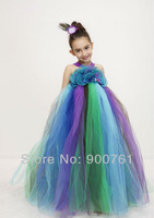 New 2014 girl dress,girl party dress,peacock dress ,children dresses ,baby girl party wear dress ,flower girl dress for wedding