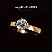 Free Shipping~New Jewelry Fashion 18K Rose Gold Plated/Silver Plated With HI-Q Shinning Clean Austria Crystal & Wedding Ring