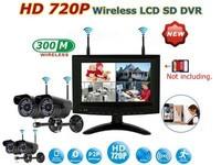 Buy 1 set HD720P 2.4GHz 7 Inch Digital Wireless CCTV System LCD DVR Monitor P2P network 4pcs Cameras get 1pcs free Crimping Tool