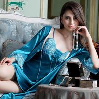 Women Nightwear bedgown Pajama Sets Pajamas. Sexy Fashion Nightgown. Emulation Condole Belt Nightgown Robe Household To Take