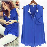 Fashion hot-selling ! 2013 women's loose V-neck short-sleeve chiffon shirt all-match shirt