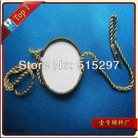 (SM-06) Free shipping high quality custom garment metal seal tag metal hang tag for high quality clothing