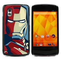 For Nexus 4 Case, Iron Man Hard Case Skin Protection Case Cover for LG Google Nexus 4 E960 (E960-1459)