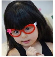 Free shipping!Wholesale Fashion Cute Children Flower Eyeglasses Frame Girls Party Decorate Glasses Frame