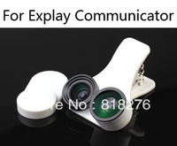 Fisheye wide-angle macro 3 in one photo lens mobile phone lens for Explay Communicator