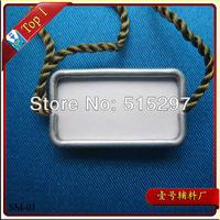 (SM-01) Free shipping high quality garment Customized clothing aluminum seal tag