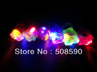 Free shipping 1000pcs/lot 3*3*4cm 6 color led flashing ring flower ring for party