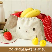Handmade diy kit material fabric bags handmade material rabbit dot kit multifunctional lunch bag