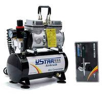 U-STAR U-602G Mini Air Compressor + U-STAR S-150 Airbrush