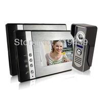 7 Inch Video Door Phone Doorbell Intercom Kit 1-camera 2-monitor Night Vision, freeshipping, dropshipping Wholesale