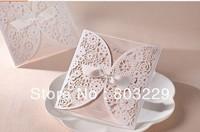 2014 , free shipping,50pcs/lot,  high-grade, hollow out wedding invitations, custom photos, free design,zongya li