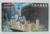 2015 Hot Sale New Arrival Wood Wooden Toys Adult 3d Wooden Puzzle Assembled By Hand Diy Simulation Model Puzzles Dream Castle