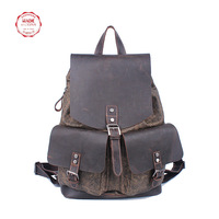 crazy horse leather backpack unisex canvas backpack designers college backpack backpack free shipping
