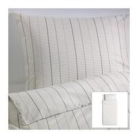 Ikea single bedding stockholm pure 100% twinset cotton quilt pillow case stripe bed linen
