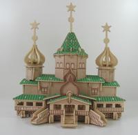 3d model wooden puzzle blocks adult children educational toys model building kits