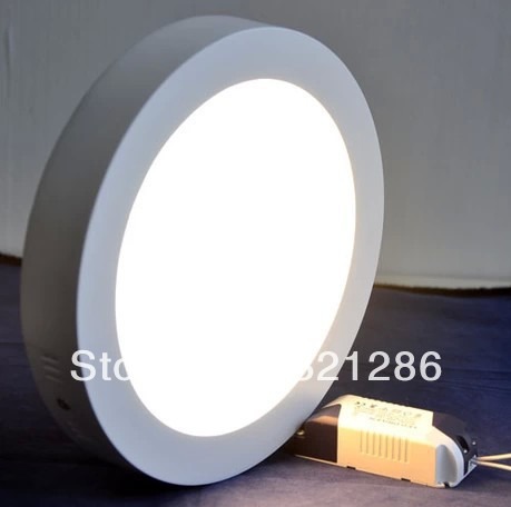 Circle ultra-thin surface mounted led downlight super bright anti-fog panel lights Led panel lighting 6W 12W 18W(China (Mainland))