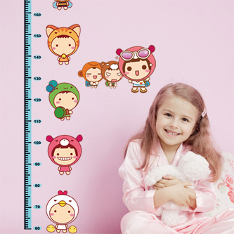 Romantic 9.9 child tv wall stickers furnishings home wall stickers doll height stickers(China (Mainland))