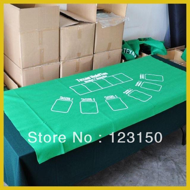 ZB-004 Non-woven fabric Texas Holdem Table Cloth, Green Felt 90*180cm(China (Mainland))