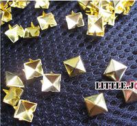 Wholesale 12mm Golden Pyramid Stud Rivets DIY Leather Clothes Shoes Bag Belt Garment Accessories