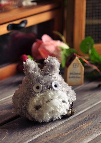 Totoro cartoon small plush doll toy dolls mobile phone bags pendant keychain(China (Mainland))