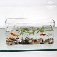 White crystal glass fish tank mini goldfish bowl fashion fish tank