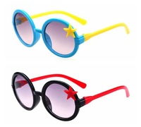 Free shipping!Wholesale Fashion Kids Star Round Sunglasses Children Festival Gift Eyewear