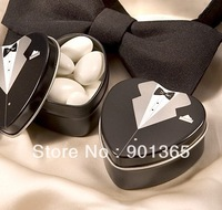 Wedding Favor Groom And Bride Sweet Love Candy Box Perfect Match Wedding Tin Box