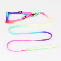 Colorful pet traction rope dog traction rope dog supplies chest suspenders belt traction rope
