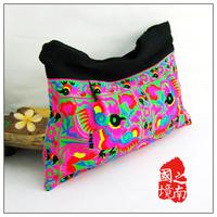 2014 new arrival embroidery flowers cloth women's handbag unique crafts bag colorful bag shoulder bag