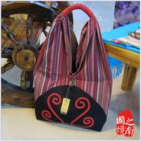 free shipping Unique 2014 bags female messenger bag shoulder bag  ethnic trend cotton bag