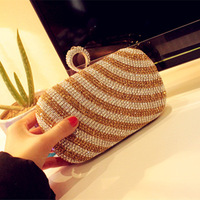 New arrival 2014 spring finger ring rhinestone bag day clutch chain bag noble rhinestone bag the wedding bag bridal bag