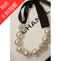 9.9 necklace female big pearl short design necklace fashion all-match fashion female formal dress