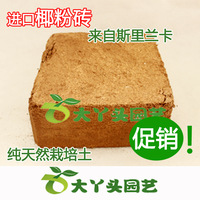 Balcony planting soil nutrient ceiling coconut powder brick coconut brick 4.5-5kg