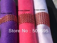 Red Color wedding table decoration 6 rows  rhinestone diamond napkin ring, crystal rhinestone napkin ring LE006R