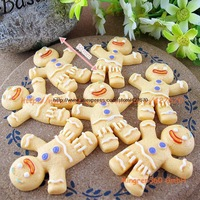 free shipping classic Gingerbread Man 50mm 5pcs flatback resins kawaii cabochon crafts DIY christmas ornamen