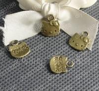 Fashion Jewelry Findings Accessories charm pendant alloy bead Antique Bronze 13*11MM cat shape 200PCS JJA1873