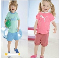 2014 NEW 1 pcs retail summer boy clothing sets fashion boys girls casual suits, t-shirt + pants, Children's sports clothes